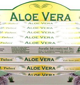Encens Aloé Véra Tulasi 8bts (5 boîtes de 8 bâtonnets)
