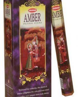 Encens Ambre Krishan (3 boîtes de 20 grammes)