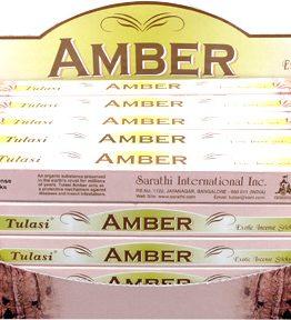 Encens Ambre Tulasi 8bts (5 boîtes de 8 bâtonnets)