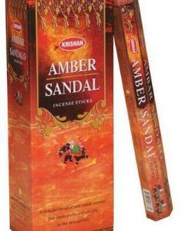 Encens Ambre Santal Krishan (3 boîtes de 20 grammes)