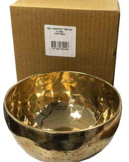 Bol chantant tibétain 7 métaux doré 14cm