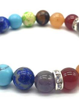 Bracelet 7 chakras 1-mix perles 8mm