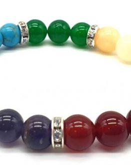 Bracelet 7 chakras 3-mix perles 8mm