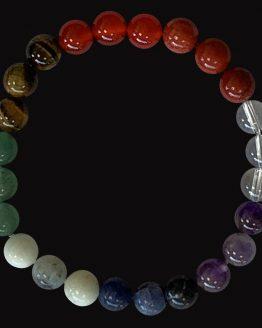 Bracelet 7 chakras perles