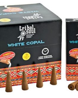 Cônes Backflow Tribal Soul Copal Blanc