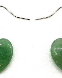 Boucles d'oreilles Cœur Aventurine 4cm