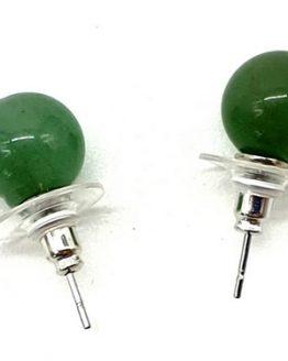Boucles d'oreilles Perle Aventurine Verte 10mm
