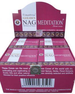 Cônes Vijayshree Golden Nag Méditation
