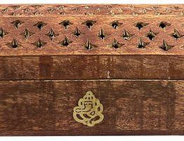 Porte encens coffret en bois Ganesh 30cm