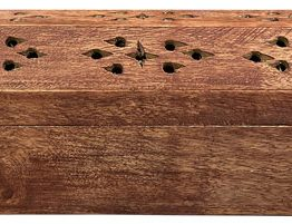 Porte encens coffret en bois Pentacle 30cm