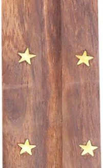 Porte encens bois Bouddha 25cm
