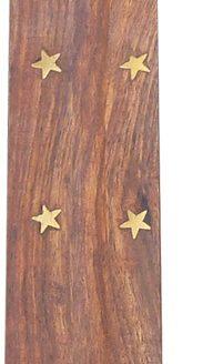 Porte encens bois Éléphant 25cm