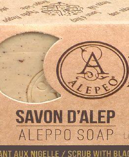 Savon d'Alep Alepeo exfoliant Nigelle