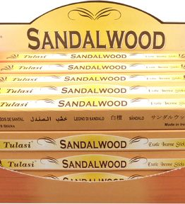 Encens Bois de Santal Tulasi 8bts (5 boîtes de 8 bâtonnets)