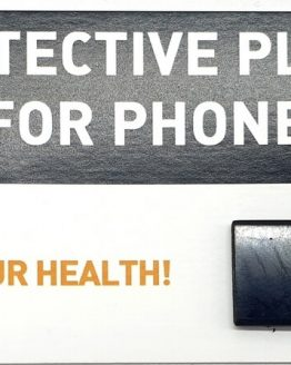 Plaque Shungite Téléphone Rectangulaire 2cm