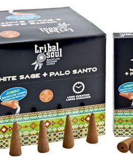 Cônes Backflow Tribal Soul Sauge Blanche + Palo Santo