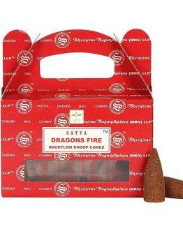 Cônes Backflow Satya Dragon's Fire 1 boîte de 24 cônes