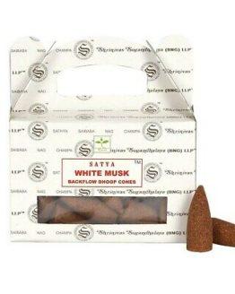Cônes Backflow Satya Musc Blanc 1 boîte de 24 cônes