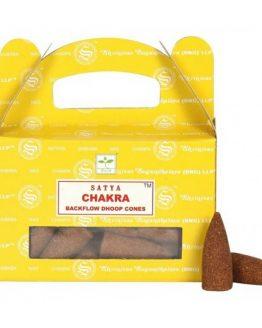 Cônes Backflow Satya Chakra 1 boîte de 24 cônes
