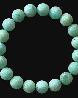 Bracelet Amazonite A Pérou perles 10mm