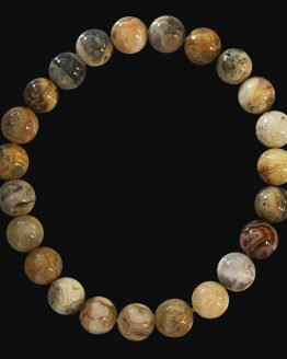 Bracelet Agate Crazy Lace perles 8mm