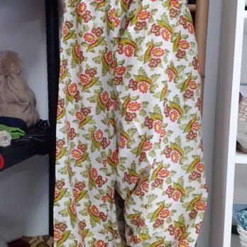 Pantalon Sarouel en coton léger smocké