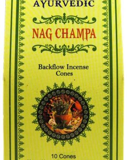 Encens Nag Champa Ayurvedic cônes Backflow