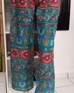 Pantalon en coton léger imprimé