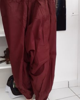 Pantalon couleur unie bordeaux