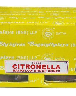 Cônes Backflow Satya Citronnelle 1 boîte de 24 cônes