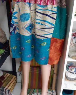 Jupe courte en Sari