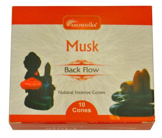 Cônes Backflow Musc Aromatika