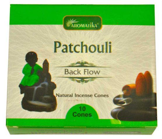 Cônes Backflow Patchouli Aromatika